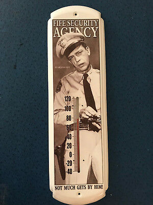 2001 Andy Griffith Barney Fife Fife Security Agency Indoor/Outdoor Thermometer