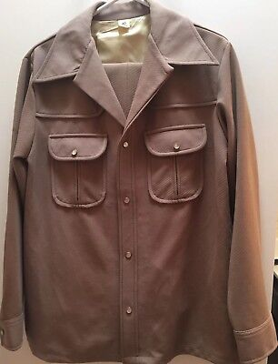 Vintage Tan Leisure Suit Mens The Relaxables