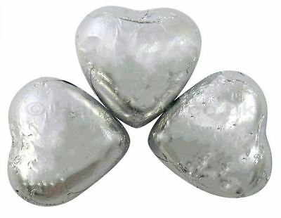 Kingsway Retro Sweets Silver Foil Chocolate Hearts Valentine Wedding Party 500g