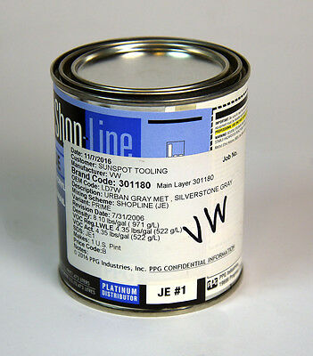 1 pint (16 oz)  Paint for Volkswagen: Silverstone Metallic LD7W  Urban Gray base
