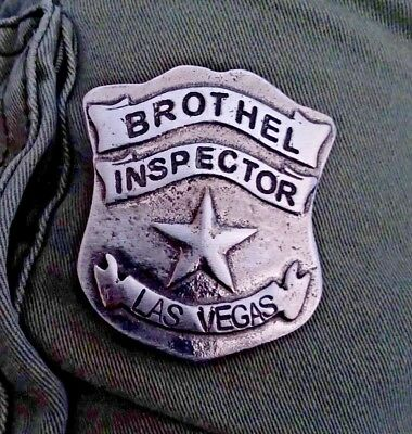 Brothel Inspector Las Vegas  (Badges Of The  Old West) Free Shipping