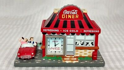 Coca Cola Retro Diner With Drive Thru And Mini Clock Dated 1999