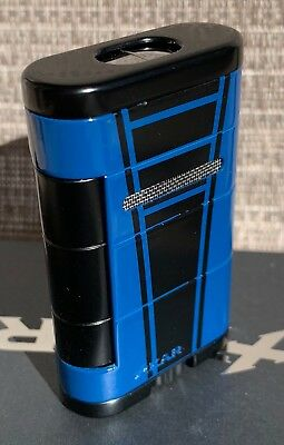 "XIKAR 533HPBB High Performance Mach Blue Allume Double Lighter ""BRAND NEW"""