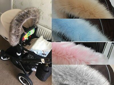 Bugaboo Cameleon Donkey Buffalo Fox Bee Frog Hood fur trim for pushchair, pram