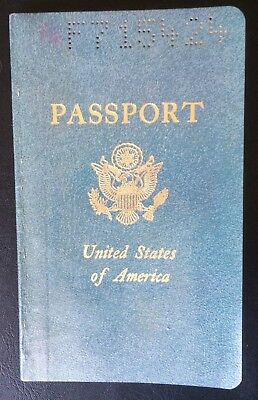 VINTAGE 1965 US Passport in Very Good Condition, used for travel to Spain