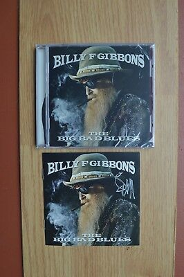 "Billy F Gibbons  "" The Big Bad Blues "" Autographed CD with COA ~ 2018 ~ ZZ Top"