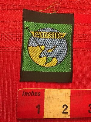 BANFFSHIRE United Kingdom Patch THIN/AS-IS borderless/no back like label 70D