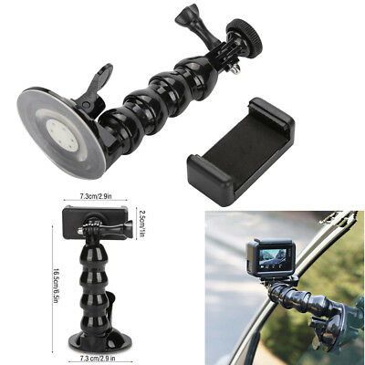 360°Car Suction Cup Adapter Window Mount Bracket For Gopro Hero 6 5 Black Camera