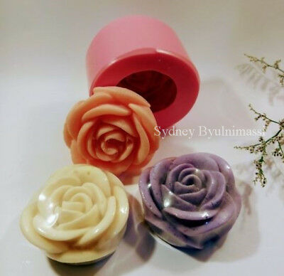 Premium Handmade (3D Simple Rose) Silicone Soap Mould Mold