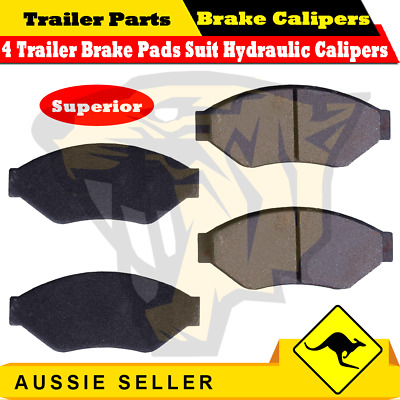 4 x Trailer Disc Brake Pads Suit ALKO Trojan Hydraulic Caliper Superior Quality