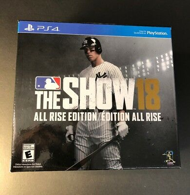 MLB The Show 18 All Rise Edition [ Collector 9Fifty Hat / STEELBOOK ] (PS4) NEW