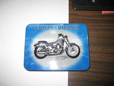 Old Harley Davidson Motorcycle Playing Card Deck Springer Softail Tin Box 2001