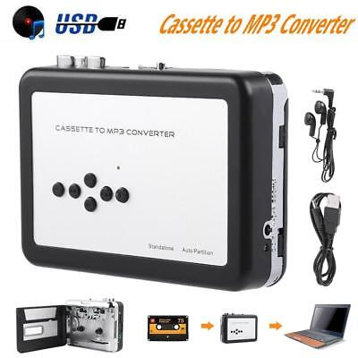 Tape to PC USB Cassette-to-MP3 CD Converter Capture Audio Portable Music Player