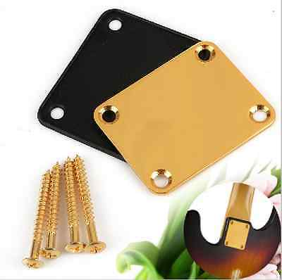 Neck Plate with 4 Screws Replacement Part for Electric Guitar part Instrument