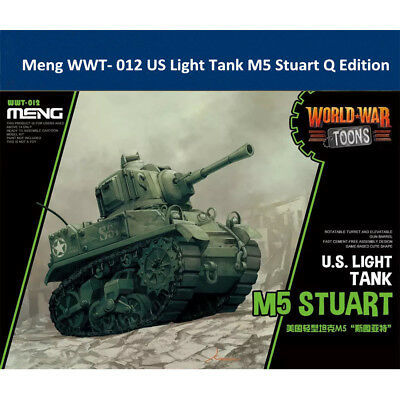 Meng WWT- 012 US Light Tank M5 Stuart Q Edition Plastic Assembly Model