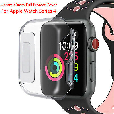 DH Clear Soft TPU Cover For Apple Watch Series 4 44mm 40mm Case Protective Shell