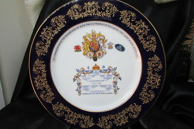 Aynsley Commemorate Plate For The Marriage Of Prince Charles & Lady Diana
