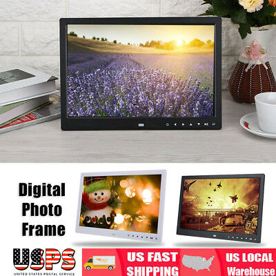 "15"" HD Screen LED Digital Photo Picture Frame MP3 MP4 Movie Player Alarm Clock"