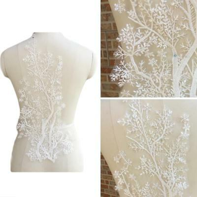 Lace Applique Trim Embroidery Sewing Motif Tulle Wedding Bridal Dress DIY Craft