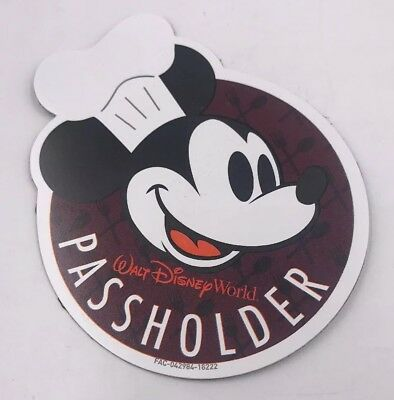 Disney World Chef Mickey F+W Passholder 2018 Epcot Food And Wine Festival Magnet