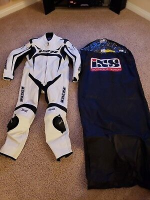 IXS Wakefield Motorcycle Suit Size 48 US White
