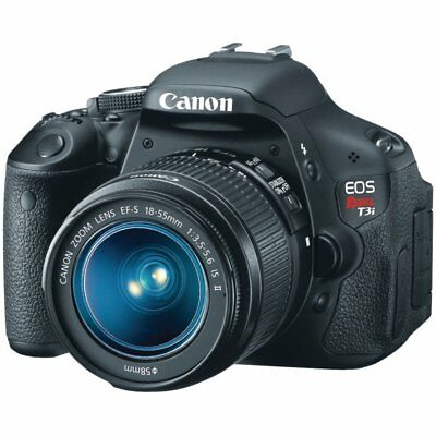 Canon EOS Rebel T3i 18.0MP  - Black (Kit w/ EF-S 18-55mm f/3.5-5.6 IS Lens