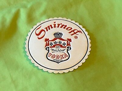 Collectable drink coasters - SMIRNOFF VODKA - NEW PERFECT CONDITION.