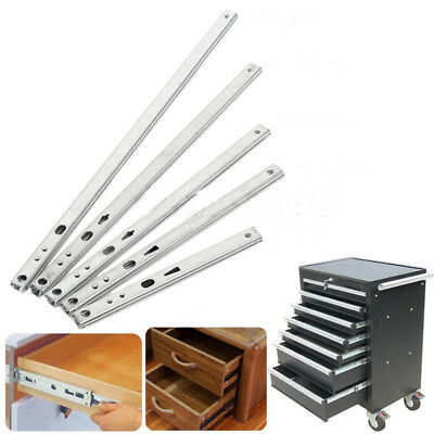 Heavy Runners Ball Bearing Drawer Slides Rail Telescopic Metal Duty 4 Kinds Size