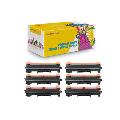 Compatible 6Pcs Toner TN730 No Chip for Brother DCP-L2550DW HL-L2350DW