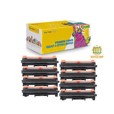 8-PK Compatible TN730 Toner With Chip for Brother DCP-L2550DW HL-L2350DW