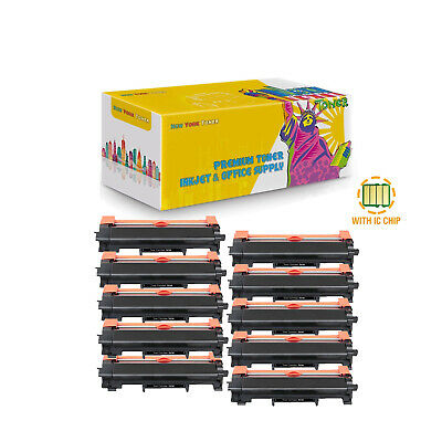 10X TN730 Compatible Toner With Chip for Brother DCP-L2550DW HL-L2350DW