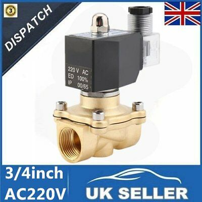 """Electric Solenoid Valve Water Air 220V AC 3/4"""" Normally Open Type NO NOISE~VC"""