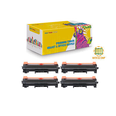 Compatible 4Pcs TN730 Toner With Chip for Brother DCP-L2550DW HL-L2350DW