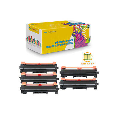 5-Pack Compatible TN730 Toner With Chip for Brother DCP-L2550DW HL-L2350DW