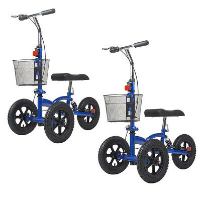 ELENKER Terrain Foldable Medical Steerable Knee Walker Aid Scooter Crutch Roller
