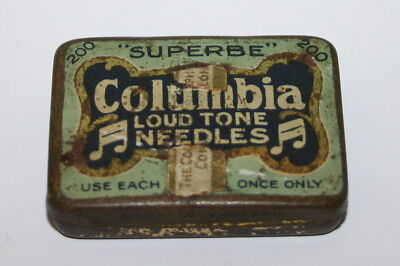 Gramophone Needle Tin - Columbia Superbe Loud Tone Needles.