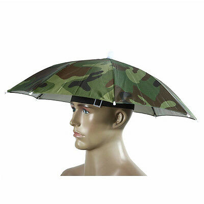 254a22529 MULTICOLOR UMBRELLA HATS Cap Foldable Hands Head Band Shade Sports ...