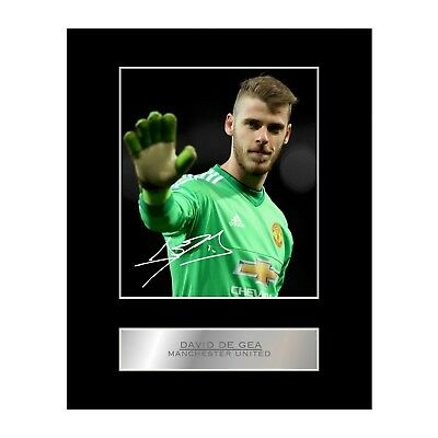 David de Gea Signed Mounted Photo Display Manchester United FC