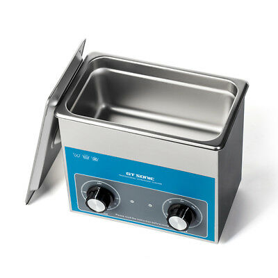 220V 3 L Stainless Ultrasonic Cleaner Industry Cleaning Tank Heater w/Timer