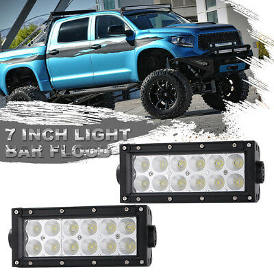 "2x 7"" 72W Led Work Light Bar Off-road Driving Light 4WD for Jeep SUV Truck 6"""