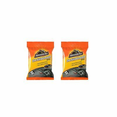 2 x Armor All Dashboard Interior Wipes Gloss Finish Car Care  Pack of 30