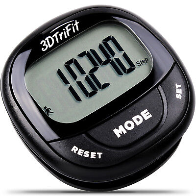 3DTriFit 3D Pedometer Activity Tracker with Pause Function & 7-Day Memory
