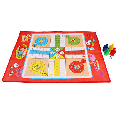 M Size Non-woven Ludo Game Portable Fun Flying Chess Board Games with Family