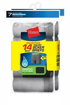 Hanes Boys 14-Pack Boxer Brief size large 14/16 *NEW**