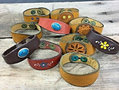 Leather Hippie Boho Band Bracelet Vintage 70's NOS Choose From Many Variations
