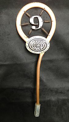 """Copper Magic Hat Brewing Co. 14.25"""" Beer Keg Tap Handle Number 9 Display only"""