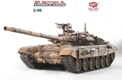 1/16 2.4G RC Henglong Smoke&Sound  Russian T-90 Tank Metal Gearbox Vesion