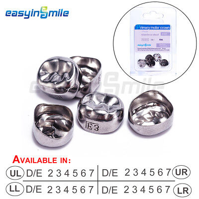 New 1XEasyinsmile Dental Kids Crown Refill Stainless Steel Primary Molar Crowns