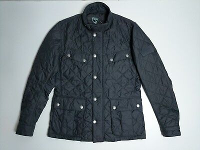 Barbour International Men's Ariel Quilted Jacket Size M Coat Grey Polarquilt