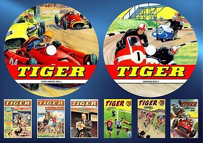 Tiger Weekly 1970's Comics + 31 Annuals On Two DVD Rom's